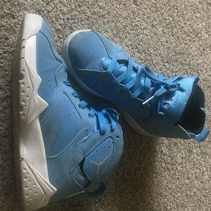 Youth Retro Jordan 7 Baby Blue
